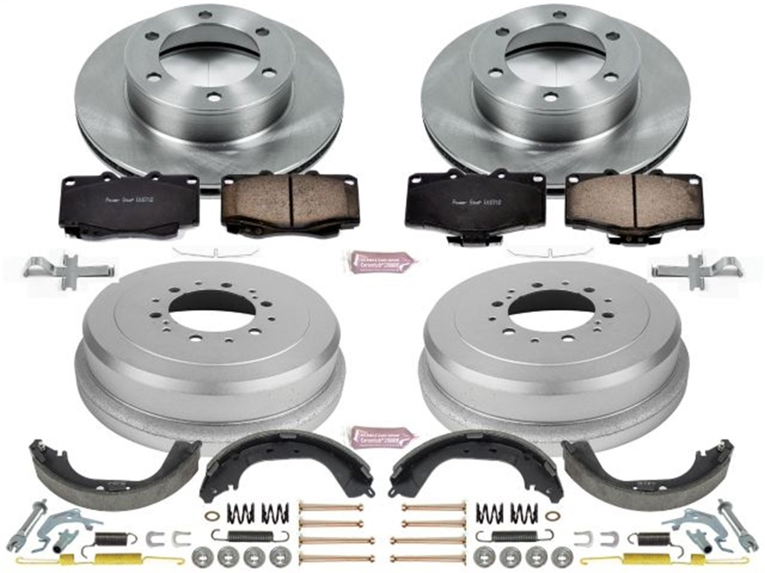 Drum and Shoe Kits Rotor Power Stop Front /& Rear KOE15095DK Autospecialty Daily Driver Pad