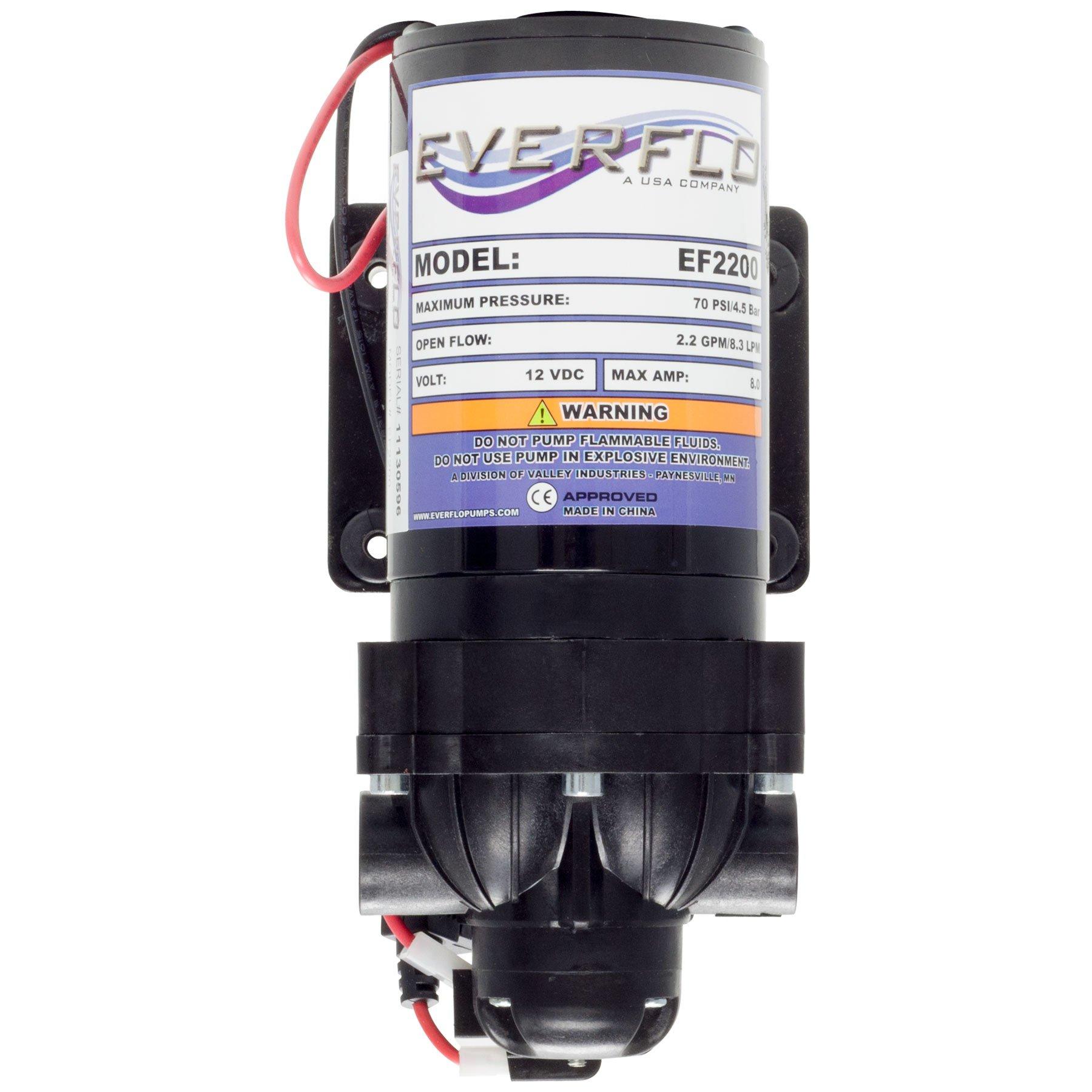 2.2 GPM @ 70 PSI 3/8'' 12V DC Diaphragm Pump