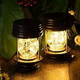 Solar Lanterns Outdoor Hanging Waterproof Decorative Landscape Solar Table Lights Yard Garden Patio Warm White Lamps…