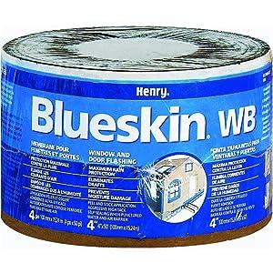 "Henry BH200WB4559 Blueskin Weather Barrier Self-Adhesive Waterproofing Membrane, 50' Length x 4"" Width"