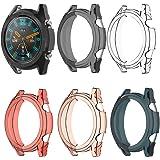 EEweca 5-Pack Protector Case for Huawei Watch GT Soft TPU Bumper Shell