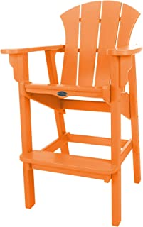 product image for Nags Head Hammocks Sunrise Bar Dining Chair, Orange