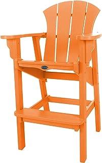 product image for Nags Head Hammocks Sunrise Bar Dining Chair, Orange
