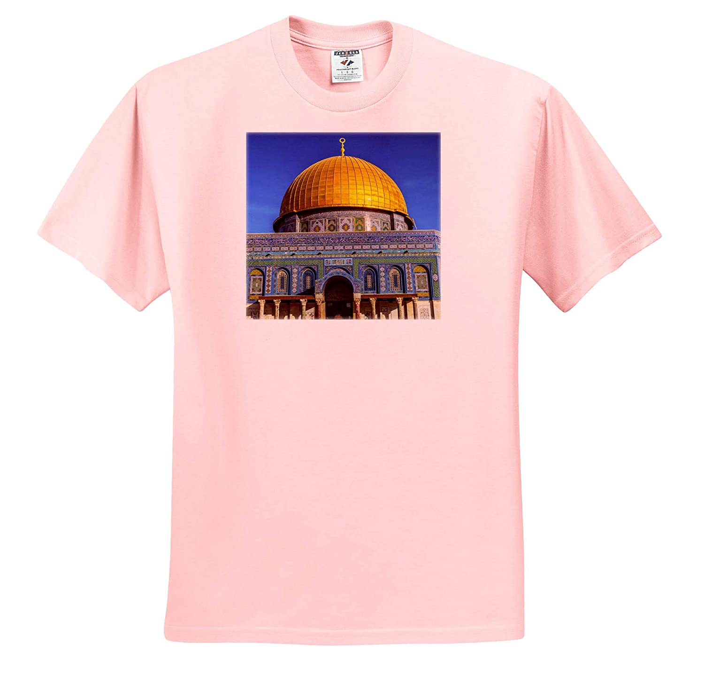 Dome of The Rock Israel Israel ts/_312752 Temple Mount Jerusalem 3dRose Danita Delimont - Adult T-Shirt XL