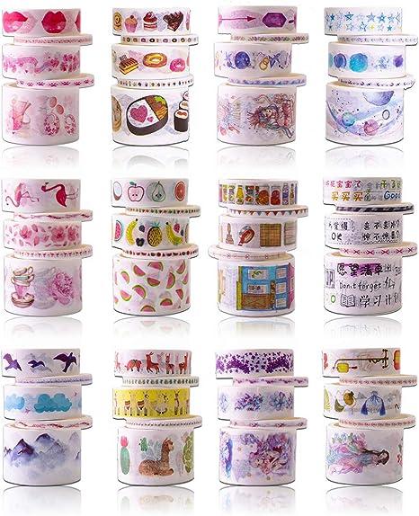 Seasons Washi Tape Diary Leaves Mountain Adhesive Tape Masking Tape Watercolor