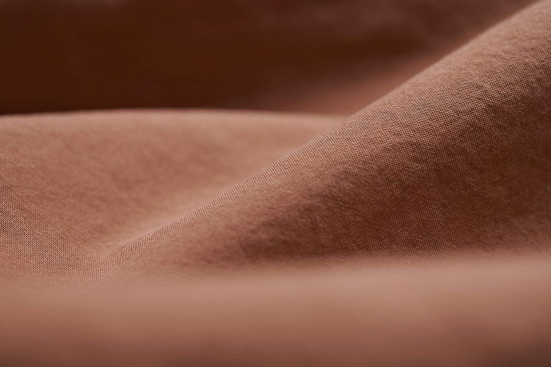 L1NK STUDIO Funda Almohada Cama de 90 cm (45X110cm) 100% algodón (Percal 200 Hilos) Caldera