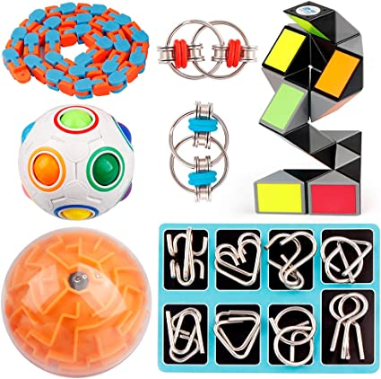 Super Girls 6 Kid/'s Party Filler Favour Loot Bag Toys Metal Ball Maze Puzzles