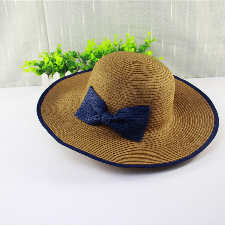 2644d5b2bb3c0 Attack Summer Hat Ladies Bow Beach Hat Outdoor Tourism Sun Hat Wholesale  D-9