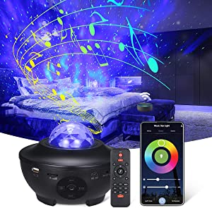 Smart Star Projector Night Light,Tomshine WiFi Galaxy Projector Light Bluetooth Music Speaker Ocean Wave Nebula Cloud Works with Alexa Google Home,Gifts for Baby Kids Bedroom Decor Christmas Party