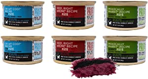 I AND LOVE AND YOU Grain Free Cat Food 3 Flavor 6 Can Bundle with Toy: (2) Whascally Wabbit, (2) Beef, Right Meow, and (2) Oh My Cod, 3 Ounces Each