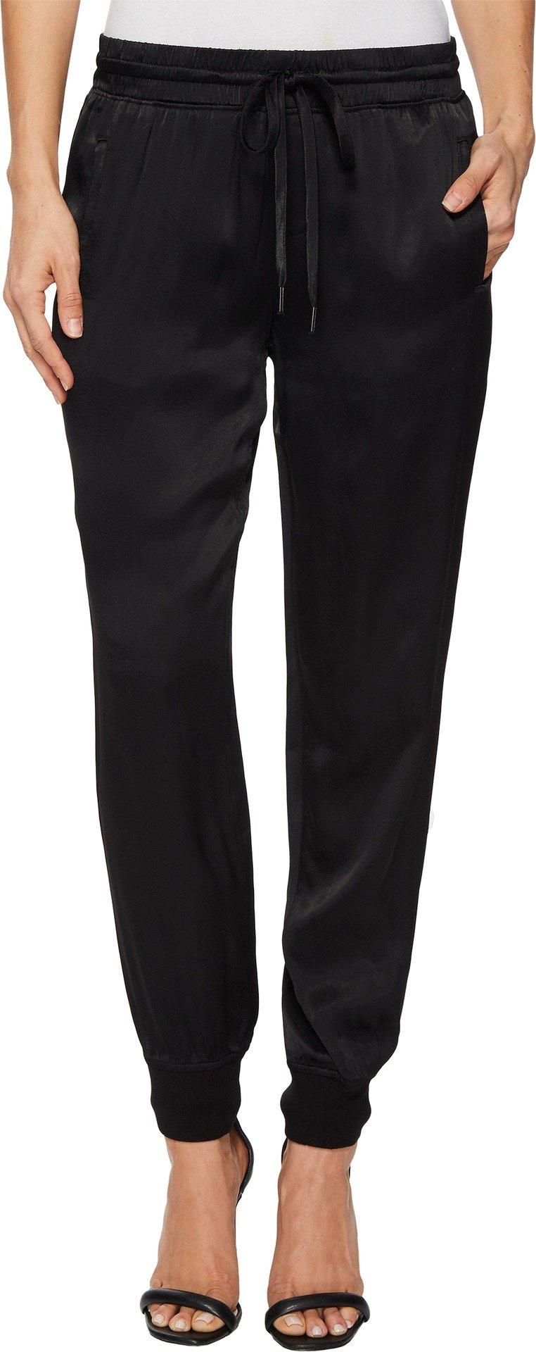 Sanctuary Women's Dreamer Satin Jogger Pants Black Medium