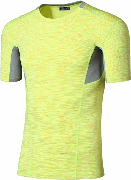 Jeansian Hombres Deportes Wicking Breathable Quick Dry Corta Manga Yoga Gym Correr Training Camisetas Tee Tops SMF012: Amazon.es: Ropa y accesorios