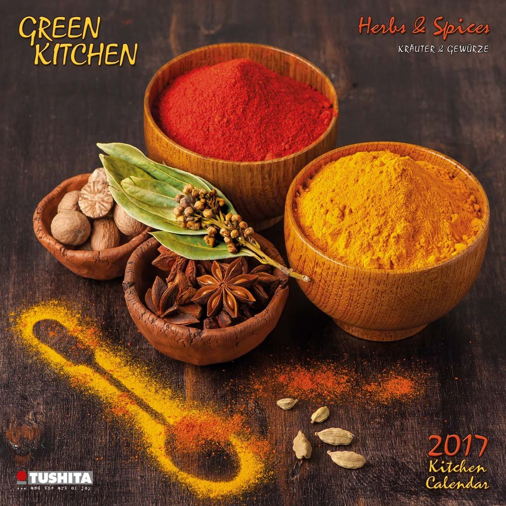 Green Kitchen  Herbs & Spices 2017 Calendar