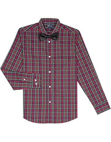 14b1803963 Tommy Hilfiger Boys  Long Sleeve Dress Shirt with Bow Tie