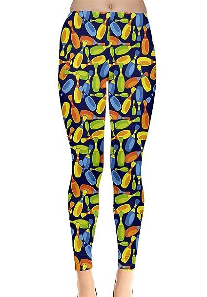 e35276272cf703 CowCow Womens Colorful Bowling Ball Games Leggings, XS-5XL at Amazon  Women's Clothing store: