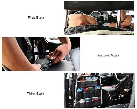 MoKo Multi-Pocket Car Backseat Organizador, Kick Mat Asiento ...