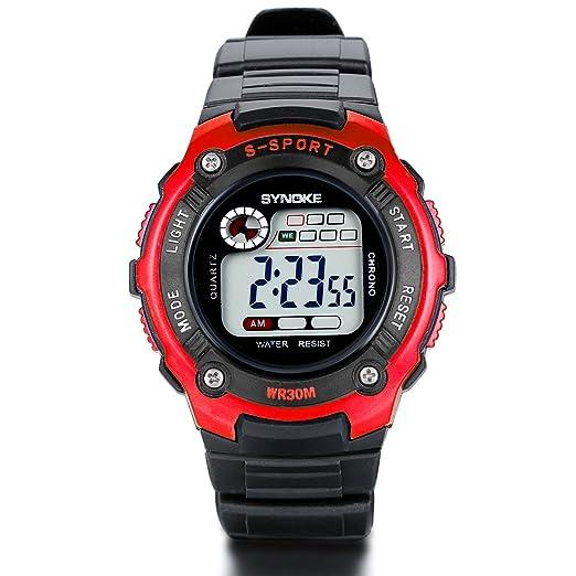 Amazon.com: JewelryWe Fashion Sports Watches with Alarm ...