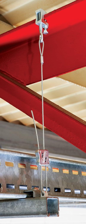 Drahtseilabh/ängung Karabiner Ringschraube M6 // M8 mit Schlaufe 1-5 m lang Dobygrip in verschiedenen Ausf/ührungen Leitungen 100 kg Traglast Lampen Drahtseilhalterung f/ür Rohre Drahtseilsystem