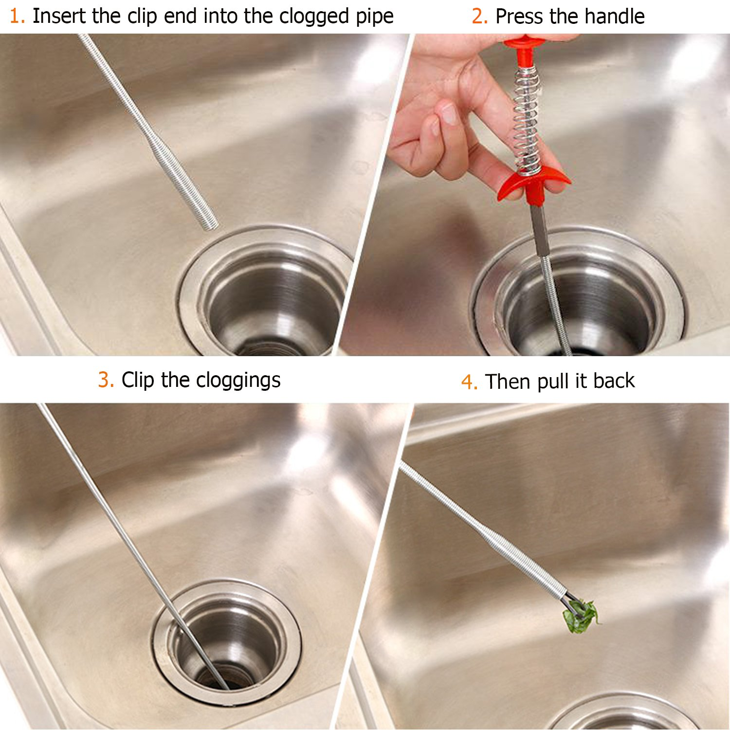 Aogky Bendable Drain Clog Remover Practical Kitchen Sink Sewer