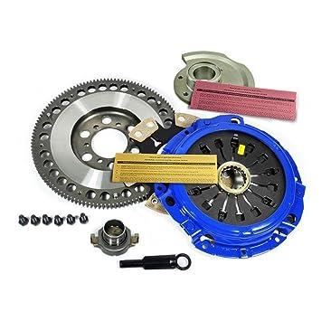 EF etapa 4 Kit de embrague + cromo-molibdeno volante + equilibrio peso Mazda RX-7 RX7 Turbo FD: Amazon.es: Coche y moto