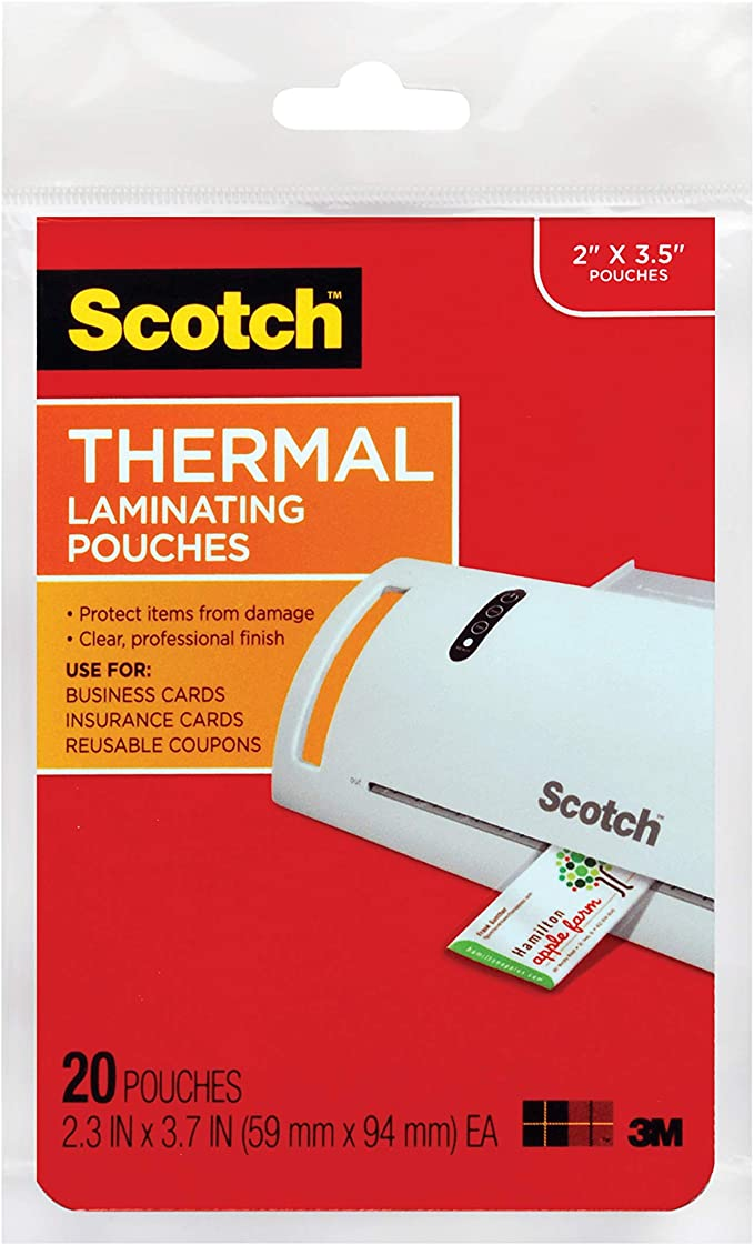 Scotch Thermal Laminating Pouches TP5854-50 5 mil Thick 8.9 x 11.4-Inches 50-Pack 3 Pack of 50