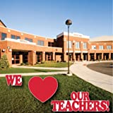 Victory Store Yard Sign Outdoor Lawn Decorations: Outdoor Sign 'We Love Our Teachers' - 3 piece sign w/ 7 stakes