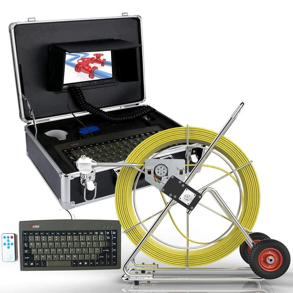80 メートル 100 120M メートル 120 Waterproo メートル 160 メートル下水道防水カメラパイプパイプライン検査システム 7
