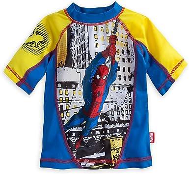 Disney Store Marvel Spider-Man Rash Guard /& Swim Trunks Set Boy Size 5//6