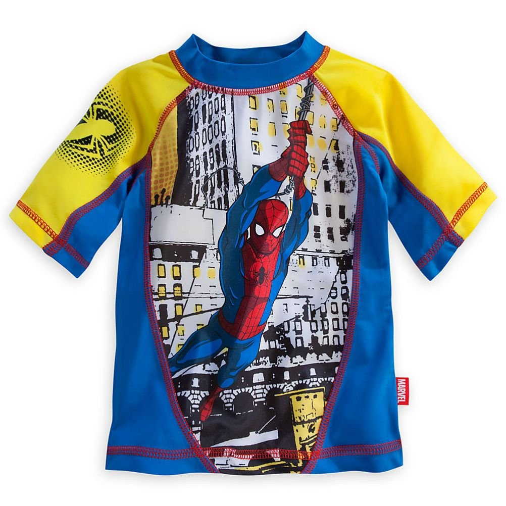 Disney Store Marvel Spiderman Little Boy Swim Rash Guard Size 5/6