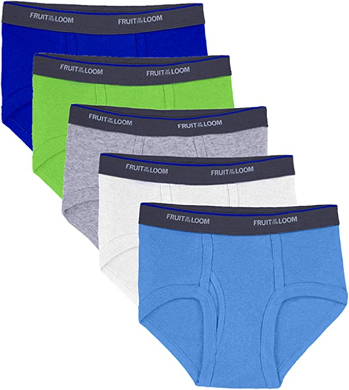 Large Wardrobe Multipack Fruit of the Loom Boys Cotton Brief Pack of 14