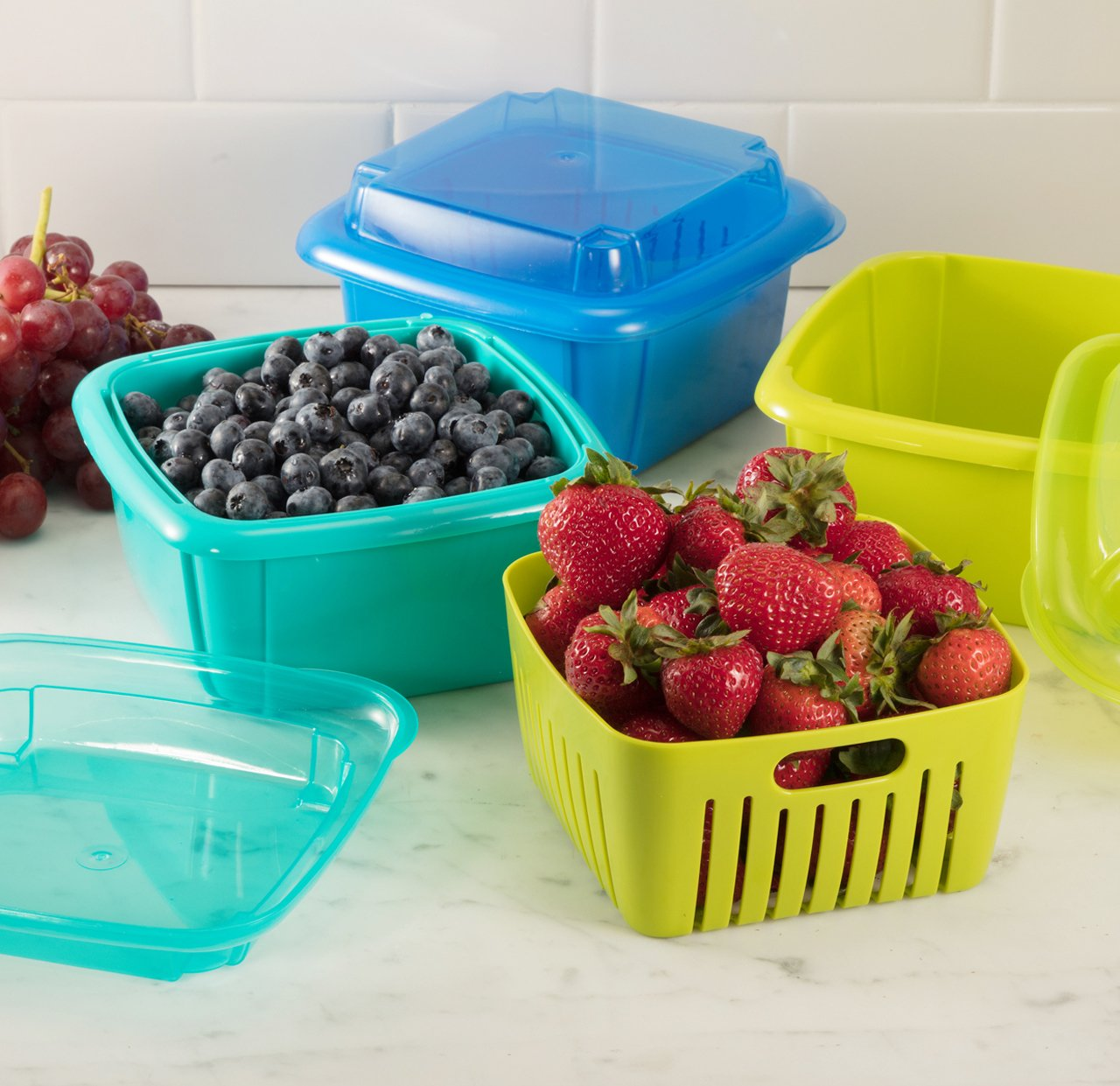 Amazon.com: Hutzler 3-in-1 Berry Box, Red: Berry Bowl: Kitchen & Dining
