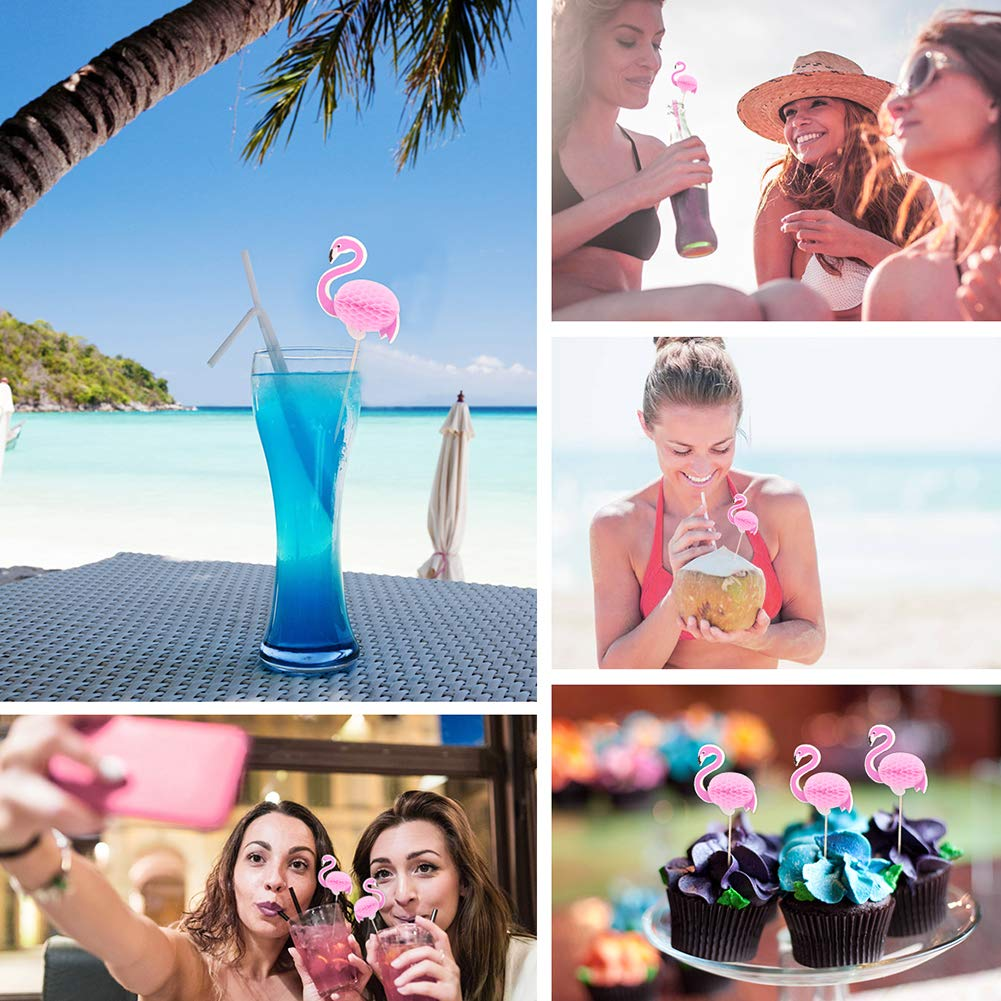 Beito 3D Flamingo palillo de Dientes 100 unids Cake Topper Pick Hawaii Luau Party Decor c/óctel Stick Flamingo Fruta Comida selecci/ón