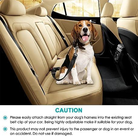 Keku Hundesitzgurt 2pcs Pack Justierbare Haustier Hundekatze Sicherheits Führer Auto Träger Sitzgurt Kabelstrang Sicherheitsgurt Rot Und Schwarz Haustier