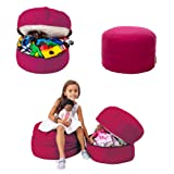 mimish Storage Pouf - Toy and Stuffed Animal