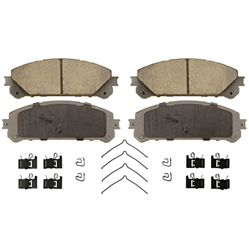 Wagner ThermoQuiet QC1324 Ceramic Disc Pad Set with Installation Hardware