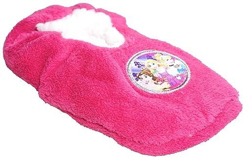 Disney de niña Princesa Rapunzel Mullido de salón Zapatillas GB Zapato Tallas de 7.5 to 13