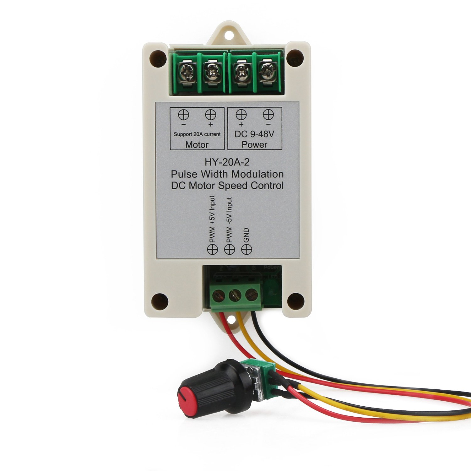 Drok Dc 9 48v 16khz Pwm Electric Motor Speed Controller Small 20a Wiring A With Sensitive Knob Support 0 5v Frequency Converter Input Control