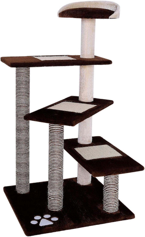 dibea Árbol rascador árbol para escalar árbol rascador para gatos Altura 100 cm marrón/beige