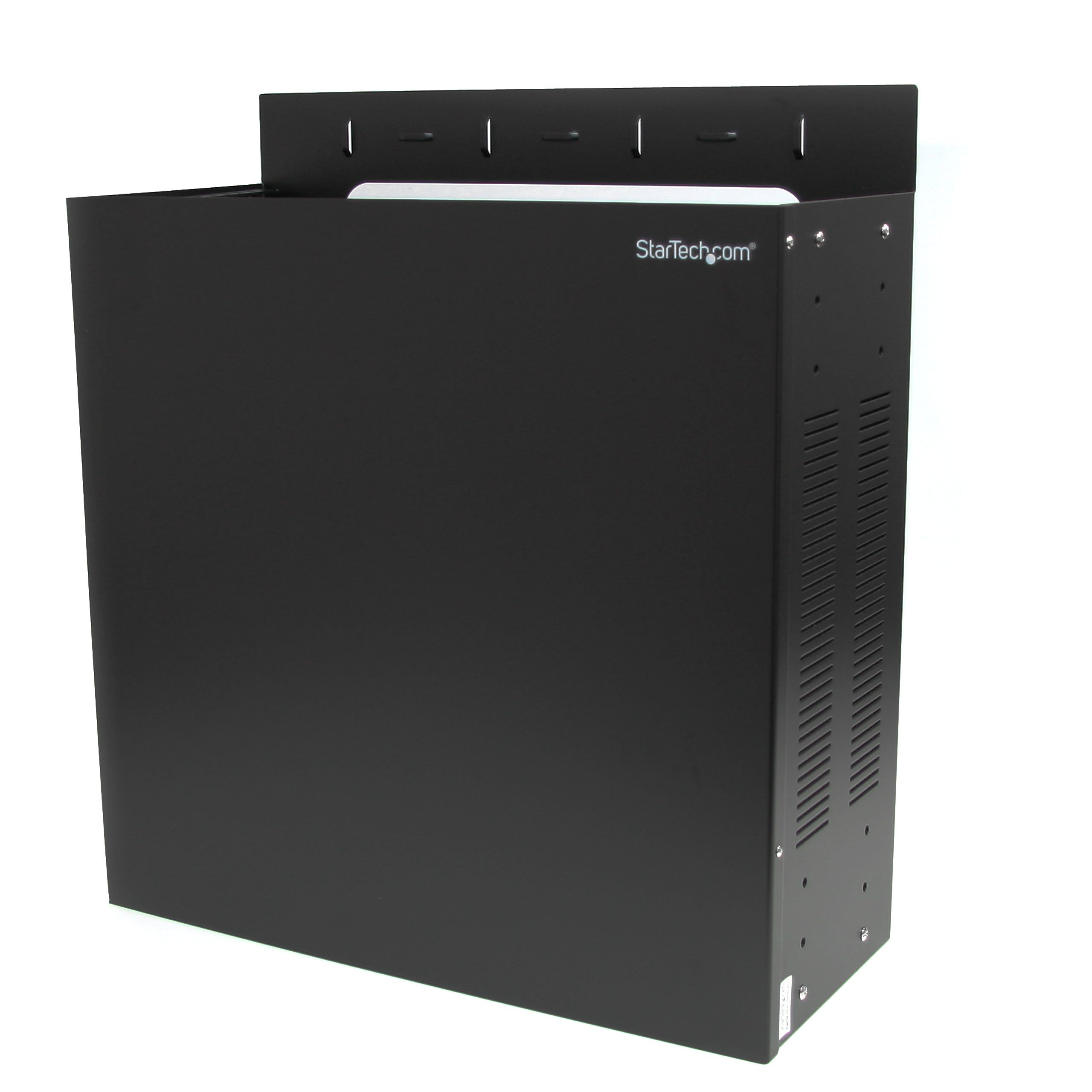 StarTech.com 4U 19-Inch Steel Horizontal Wall Mountable Server Rack RK419WALVO (Black)
