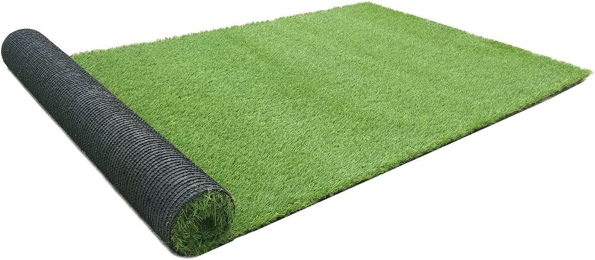 Rurality Artificial Grass Mats Indoor Outdoor Fake Grass Rugs Faux Grass Carpet with Drainage Holes for Pets, Patio,Yard and Balcony 6.56 FT x 13 FT