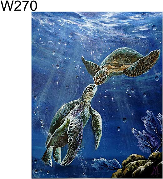 Full Drill 5D Turtle Diamond Painting Kit for Adults Home Wall Hanging Decor