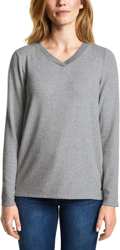 Cecil 312781 Camisa Manga Larga, Gris (Mineral Grey Melange 10327), Small para Mujer: Amazon.es: Ropa y accesorios