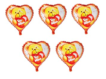 5 X Folienballon Herz Liebe Barchen Heliumballon Valentinstag