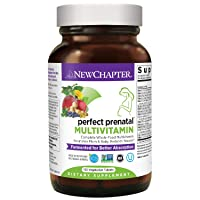 New Chapter Perfect Prenatal Vitamins, 192ct, Organic Prenatal Vitamins, Non-GMO Ingredients for Healthy Baby & Mom - Folate (Methylfolate), Iron, Vitamin D3, Fermented with Whole Foods and Probiotics