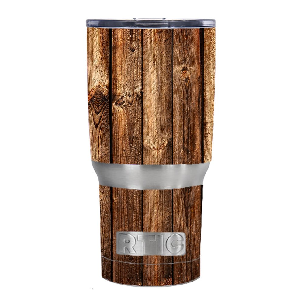 Skin Decal Vinyl Wrap for RTIC 20 oz Tumbler Cup Skins Stickers Cover / Wood Panels Cherry Oak