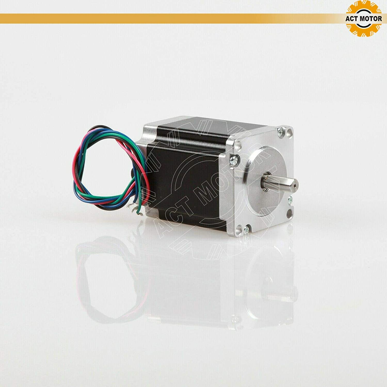 D Shaft Act Motor GmbH 3pcs NEMA23/motore passo-passo 23hs8430d8p1/ /5/Stepper Motor 76/mm 3.0/a 1,9/NM con single FLAT Shaft