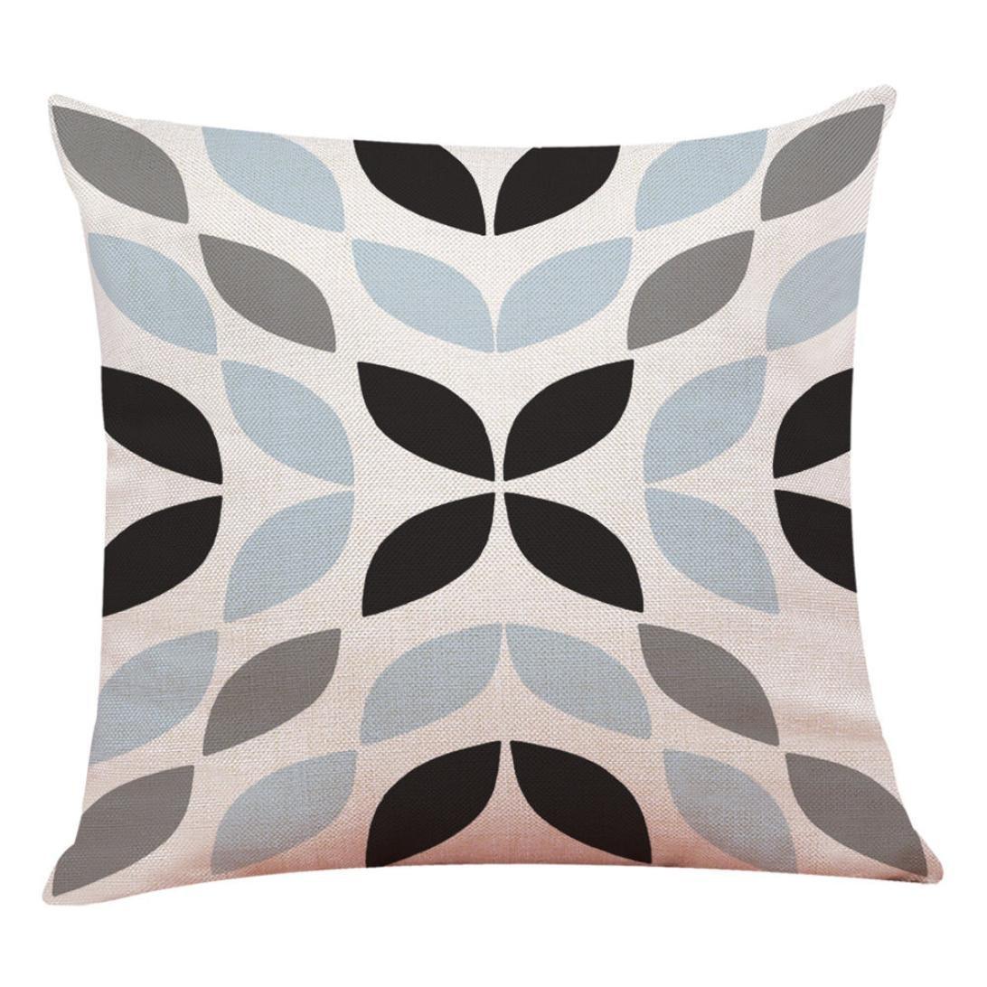 LONUPAZZ Housse De Coussin Geometrique Simple D/écor /à La Maison Taie DOreiller A