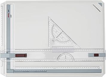 Oppikle A3 Zeichenplatte Zeichenplatte einfache Zeichenplatte DIN A3 geo-Board zeichenplatte Parallel-Zeichenschiene f/ür das Professionell Office Arbeiten//Studenten Studium