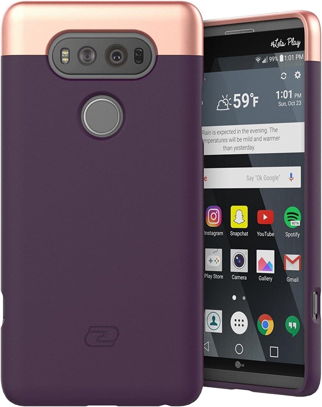 LG V20 Case Purple - Encased Ultra Thin (2016 SlimShield Edition) Full Coverage, Hybrid Tough Shell