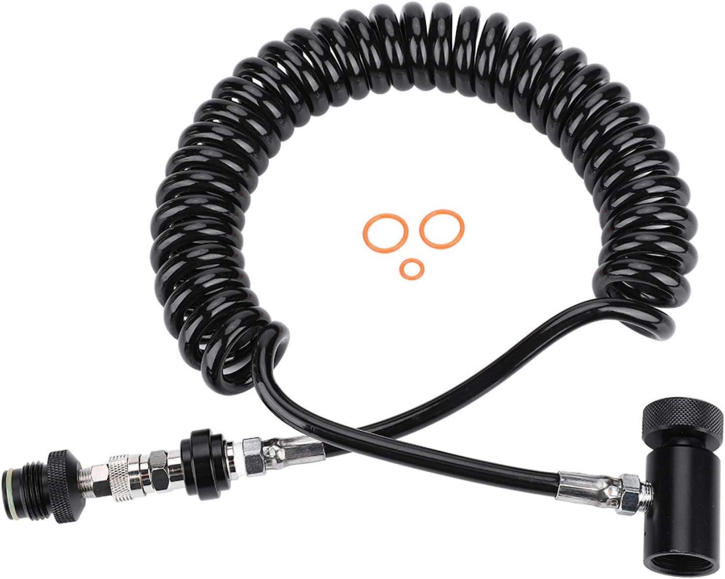 manguera de conexi/ón de cilindro de bobina remota Manguera de paintball marcador de paintball manguera corrugada con 3 anillos de sellado
